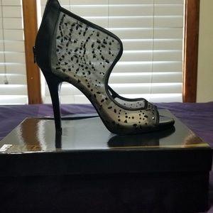 Beautiful black jeweled heels